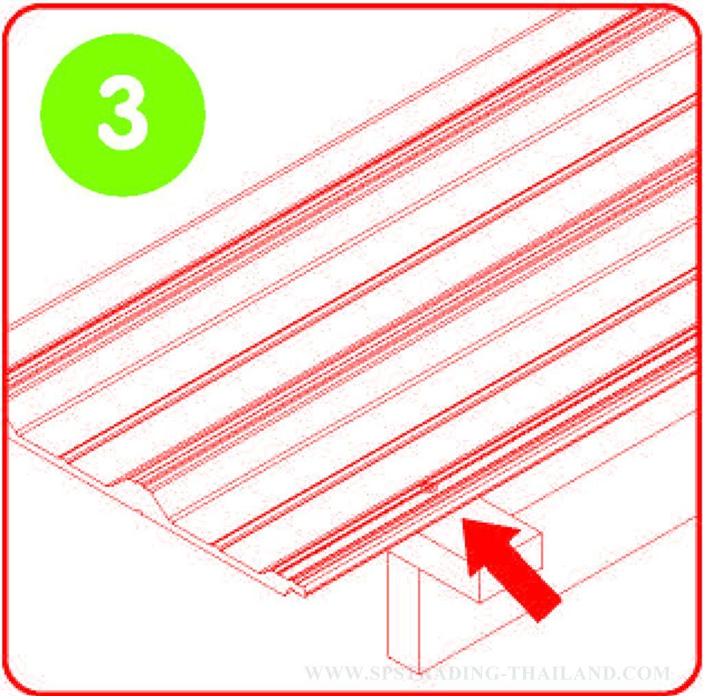 วิธีติดตั้งหลังคาไวนิล V Roof 3