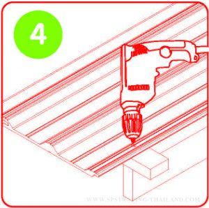 วิธีติดตั้งหลังคาไวนิล V Roof 4